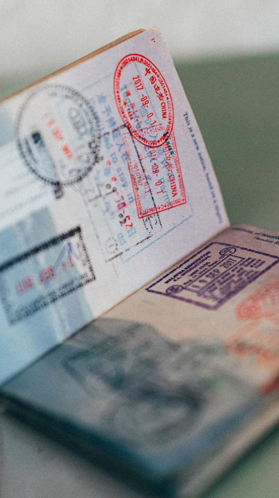 Photographie d'un passeport.